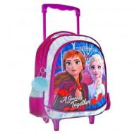 Ghiozdan rucsac troler, pentru gradinita, Elsa si Anna Disney Frozen