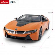 Masina cu telecomanda BMW i8 1:12 portocalie
