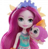 Papusa Maura Mermaid si figurina Glide EnchanTimals Royal