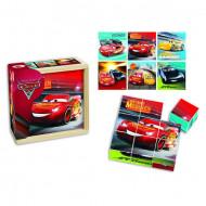 Puzzle Disney Cars 9 cuburi din lemn