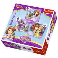 Puzzle Printesa Sofia 3 in 1 - 20, 36 si 50 piese