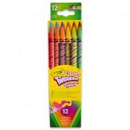Set 12 creioane colorate cu radiera Crayola