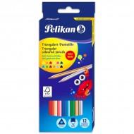 Set 12 creioane colorate Pelikan