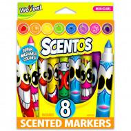 Set 8 markere parfumate fosforescente Scentos