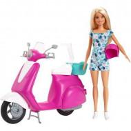 Set de joaca Papusa Barbie cu scuter