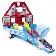 Set de joaca Paw Patrol Mighty Pups - Ryder si avionul transformabil 2 in 1