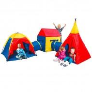 Set trei corturi pentru copii cu doua tunele iPlay