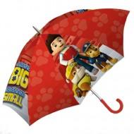 Umbrela Automata rosie Ryder Patrula Catelusilor 45 cm