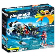 Set de joaca Barca cu motor a echipei S.H.A.R.K Top Agents Playmobil