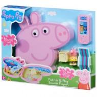 Set de joaca portabil cu figurina Peppa Pig