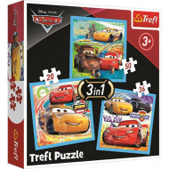 Puzzle Disney Cars 3 in 1 - 20, 36 si 50 piese