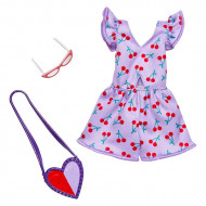 Set haine Barbie - Salopeta cu cirese