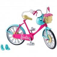 Bicicleta Barbie cu accesorii