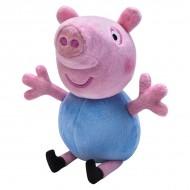 Figurina de plus Peppa Pig 18 cm George cu sunete