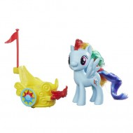 Figurina Rainbow Dash cu trasura My Little Pony