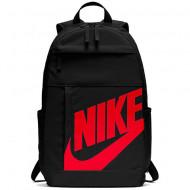 Ghiozdan rucsac Nike Elemental negru cu scris rosu, cu 4 compartimente