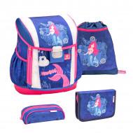 Ghiozdan scoala echipat Belmil Customize me - Sirena cu parul roz