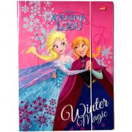 Mapa cu elastic A4 Elsa si Anna Disney Frozen
