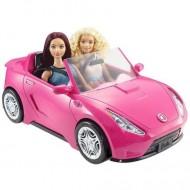 Masina decapotabila roz Barbie