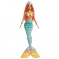 Papusa Barbie sirena cu parul potocaliu si coada turcoaz Dreamtopia