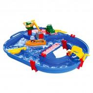 Pista de apa Starter cu hipopotamul Wilma AquaPlay 21 de piese
