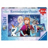 Puzzle 2x24 piese Elsa si Anna - Frozen