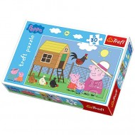 Puzzle Peppa Pig 30 piese- Peppa, George si bunica porc