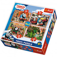 Puzzle Thomas & Friends 4 in 1 - 35, 48, 54 si 70 piese