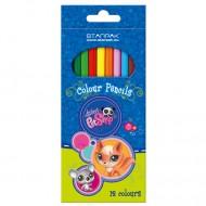 Set 12 Creioane Colorate Littlest Pet Shop