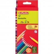 Set 12 creioane colorate triunghiulare Herlitz