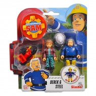 Set 2 Figurine Sam Pompierul - Derek & Steele