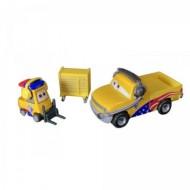 Set 2 Masinute Turbo Bullock &John Lassetire Disney Cars 3