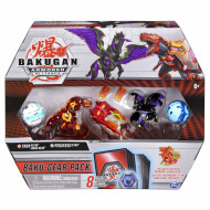 Set 4 Bakugan Armored Alliance Baku-Gear figurine Trox Ultra si Pegatrix Ultra