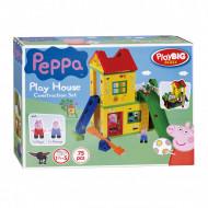 Set de constructie 75 piese Big Bloxx Casuta de joaca a lui Peppa Pig