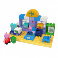 Set de constructie portabil Big Bloxx cabinetul medical al lui Peppa Pig