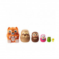 Set de joaca Casuta din copac cu figurine Peeki Parrot si animalute matrioska Enchantimals Secret Besties