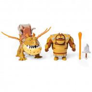 Set de joaca Cum sa-ti dresezi dragonul - Figurine Fishlegs si Meatlug - 17 cm