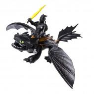 Set de joaca Cum sa-ti dresezi dragonul - Figurine Hiccup si Toothless 17 cm