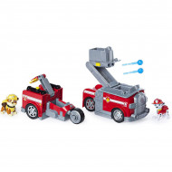 Set de joaca Masina de pompieri 2 in 1 cu figurine Marshall si Rubble Paw Patrol - Patrula Catelusilor