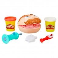Set de joaca Mini Cabinetul dentistului Play-Doh cu 2 cutiute de plastilina