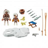 Set de joaca Playmobil Family Fun Familia de eschimosi 70606