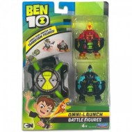 Set Omnitrix cu figurine Heatblast si XLR8 Ben 10 Action