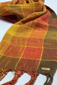 AUTUMN PLAID SCARF - ručno tkan šal