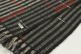 STRIPED SCARF IN MERINOS EXTRAFINE SUPERWASH WOOL - ručno tkan šal