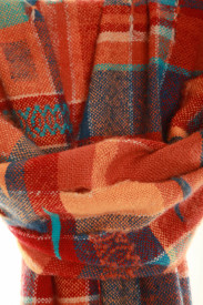 VIVIDE ORANGE - ručno tkan šal