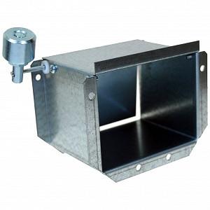 Adaptor ventilator cu clapeta tiraj 110 x 85 x 90