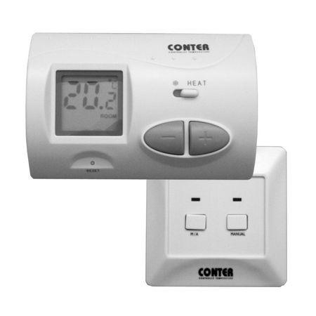 CT3W - termostat de camera fara fir neprogramabil cu 3 porturi