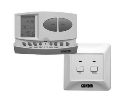 CT7W - termostat de camera fara fir programabil cu 3 porturi