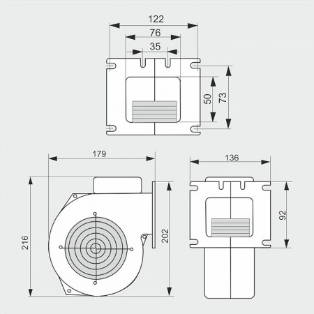 WPAx2 - ventilator cazan / ventilator centrala termica