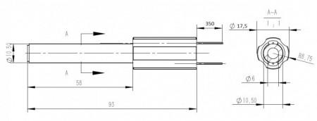 ALY-90 - aprinzator (rezistenta aprindere) ceramic peleti 150W